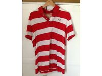 HOLLISTER Red n White T-SHIRT in XL