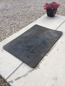 Steel hearth for wood stove
