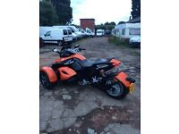 Can-am spyder trike 1000 total 2008 plate