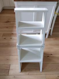 White chair/step unit/shelf unit, used.