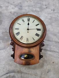 Drop dial wall clock