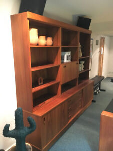 Teak Wall Unit in Excellent Condition
