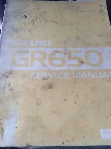 1983 Suzuki Factory GR650 Service Manual