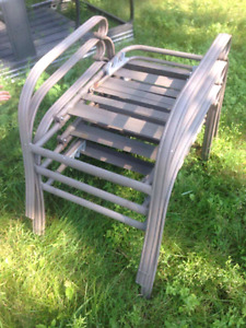 3 reclining lawn chairs