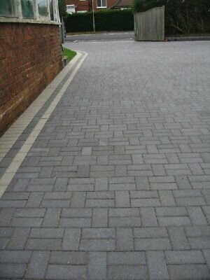 9.76m² Single Size 200x100x50mm Smooth Driveway Block Paving Charcoal