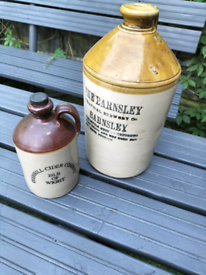 2 vintage beer bottles