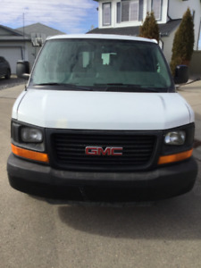 Cargo van with carpet cleaning