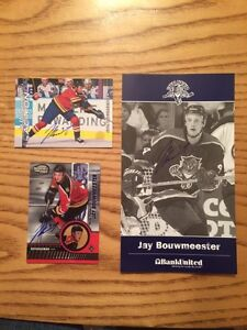 Autographed Jay Bouwmeester Hockey Cards
