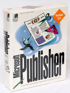VINTAGE-MICROSOFT PUBLISHER VERSION 2.0