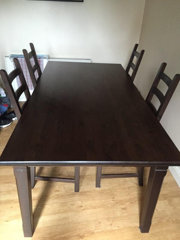 Dining Table 4 Chairs In Tollcross Edinburgh Gumtree