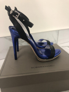 BCBG Black and Blue Heels - Like New