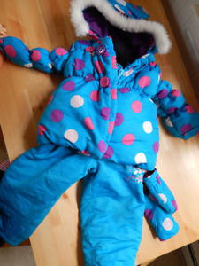 Girl Blue Snow suit Luv Gear size 3