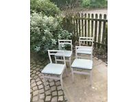 4 vintage retro low back kitchen chairs