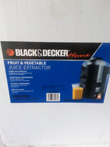 Black and Decker Fruit and Vegetable juice extractor