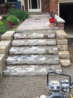 Brick chimney porch concrete repairs(booking for spring)