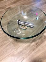 Vanity glass bowl