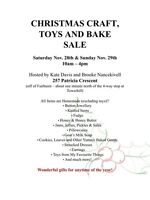 Christmas Craft, Toy and Bake Sale