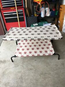 Indoor/Outdoor Dog Bed with Shade Cover