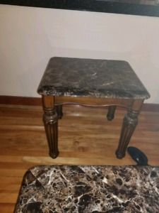 SELLING 3 PIECE FAUX MARBLE COFFEE & END TABLES