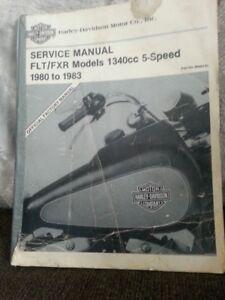 selling a vintage harley davidson official manual,1980-83