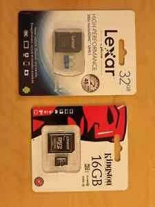 High Speed SD Cards Brand New