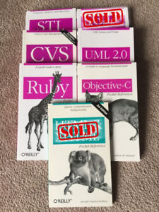 Various Oreilly pocket reference books