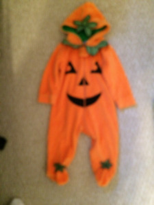 Pumpkin Sleeper/Costume for Halloween - 6 months