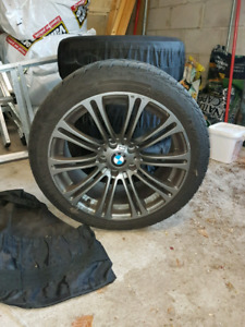 BMW winter tires with rims 18''