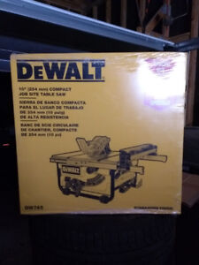 Brand new DeWalt table saw