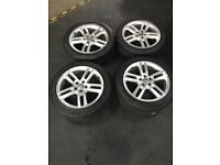 """Set of Four Genuine 18"""" Audi A6 S line Alloys and tyres"""