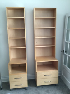 Custom Bookcase and Drawer Units