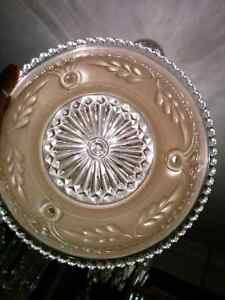 Vintage Pressed Glass Shade Reclaimed Architectural