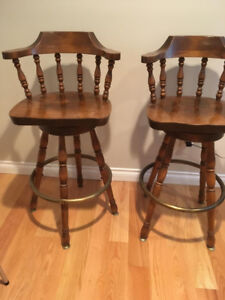 Solid Maple wood bar stools for sale