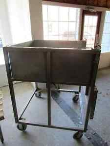 STAINLESS STEEL DOUGH OR MEAT CART London Ontario image 3