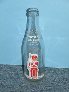Vintage soda bottle for Chocolate Soldier