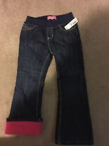 New with tags size 5 girls pink fleece lined jeans old navy