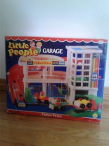 Vintage Fisher Price Little people Garage BOX ONLY