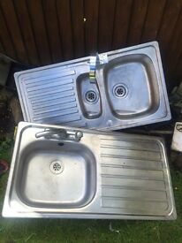 2 Stainless steel sinks both £15