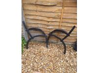 Set of solid heavy cast iron garden bench ends £15