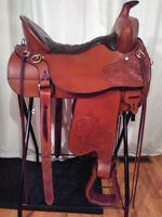 TUCKER HIGH PLAINS WESTERN SADDLE WITH GEL SEAT