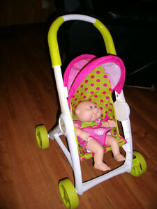 Cabbage Patch baby with stroller