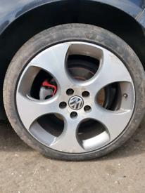 GTI MK5 VW Golf 18 inch alloys chrome silver black gt gtd