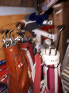 Variety of clubs and bags