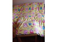 Peppa pig double duvet cover with 2 pillow cases