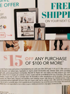 Thyme Maternity Coupons