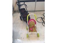 Girls Toy Push Chairs