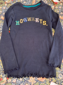 kids blue hogwarts top age 7to 8 years NEW