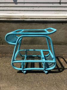 Desserte Vintage Chariot Retro Aqua Turquoise
