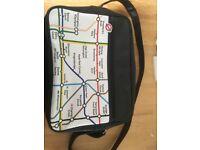 London underground messenger bag as new
