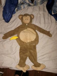 3-6 month Baby Monkey Halloween Costume